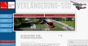 Ausbau der Straßenbahn-Linien 1 & 8, Bremen-Huchting