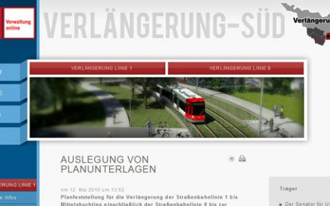 (Deutsch) Ausbau der Straßenbahn-Linien 1 & 8, Bremen-Huchting