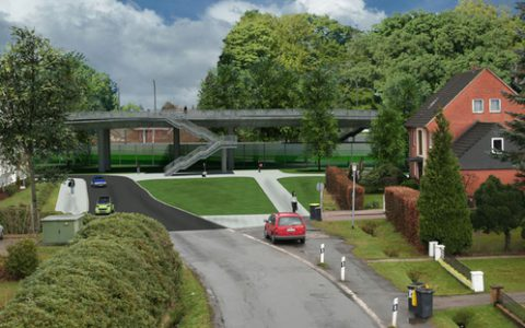 Umbau eines Bahnüberganges
