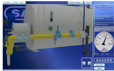 Burner simulator