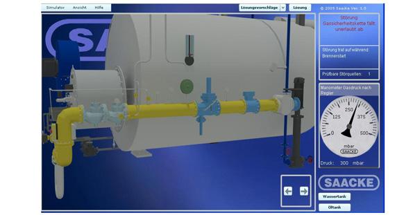 AnyMotion Brennsimulator 3D-Rendering